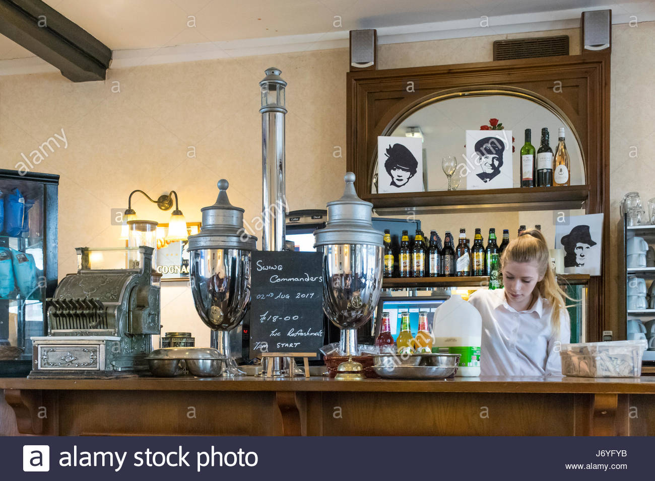 The cafe in Carnforth Railway Station, famously used as the setting for Milford Junction in the film Brief Encounter - Stock Image
