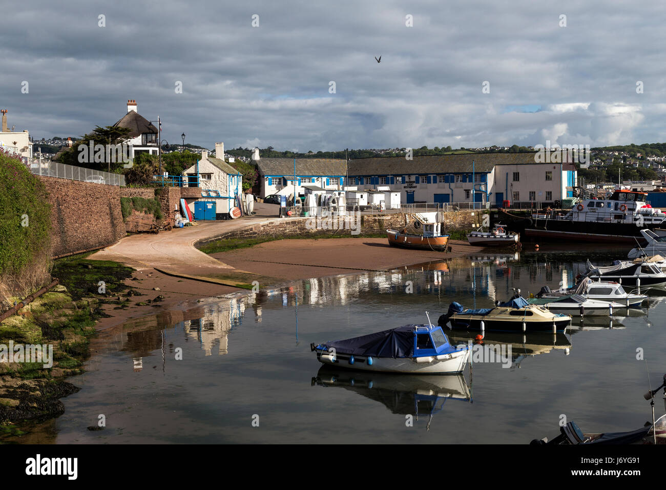 Paignton inner harbour in Torbay the birthplace of Agatha Christie,grande-bretagne, great, großbritannien, - Stock Image