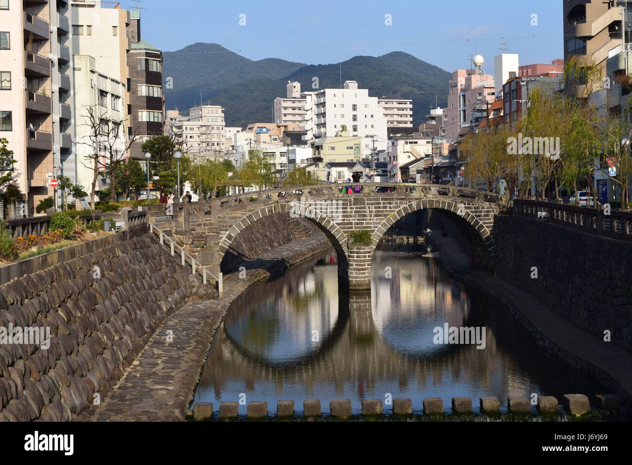 Spectacle Bridge in Nagasaki - Stock Image