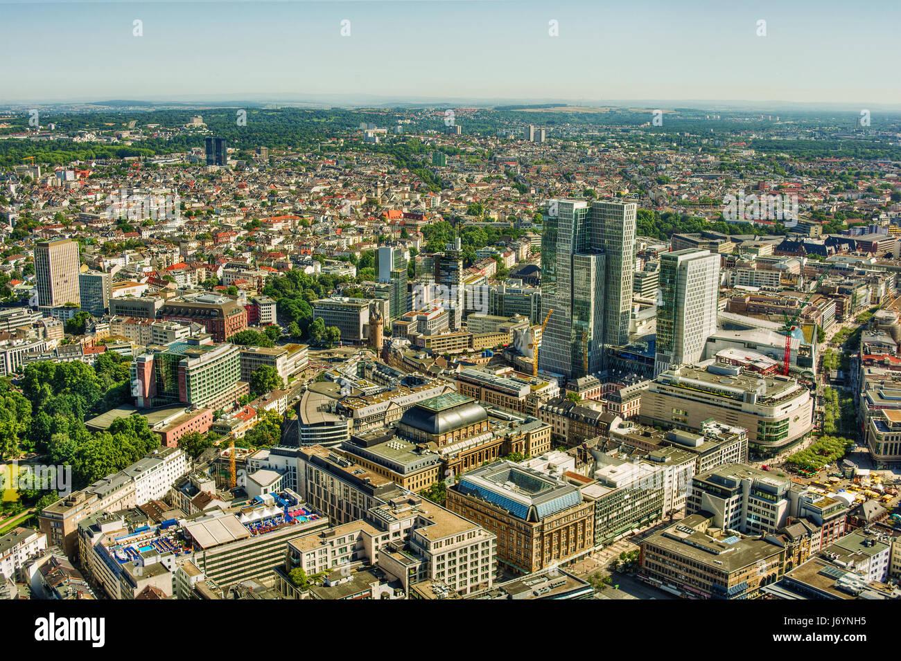 City skyline, Frankfurt am Main, Germany Stock Photo