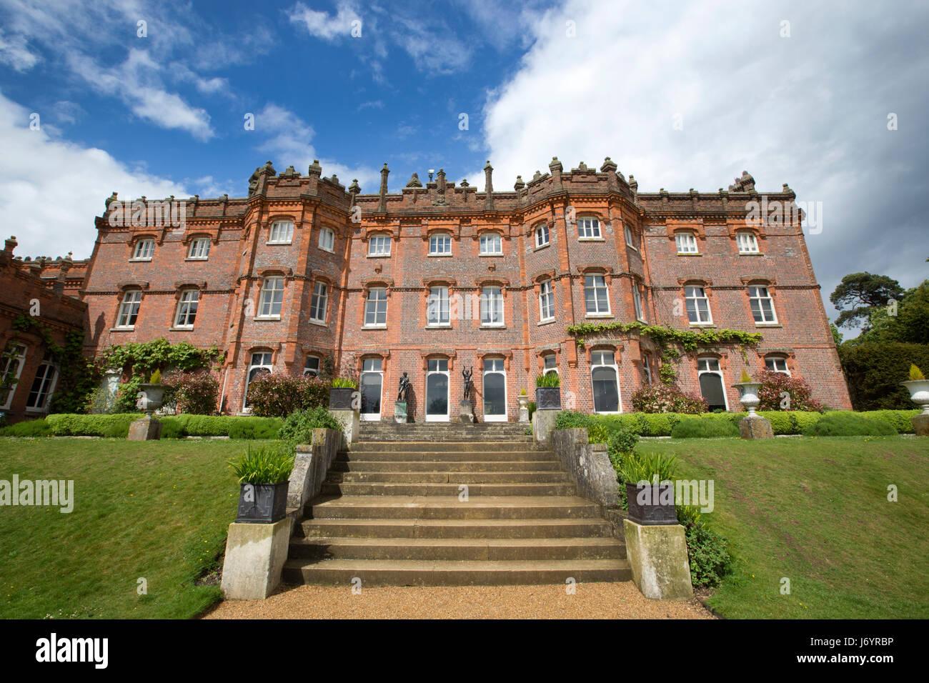 Hughenden Manor, the former home of Benjamin Disraeli, located in High Wycombe, Buckinghamshire, England, UK - Stock Image