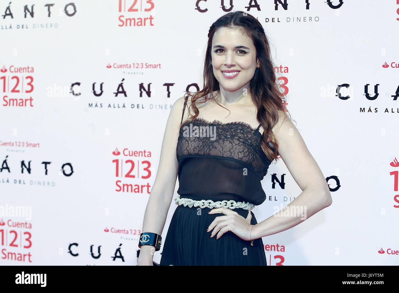 Adriana Ugarte attending the premiere of 'Cuánto. Más allá del dinero' at Callao cinema in - Stock Image