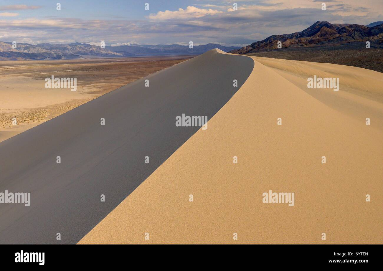 Eureka Dunes, Death Valley National Park, California, America, USA - Stock Image