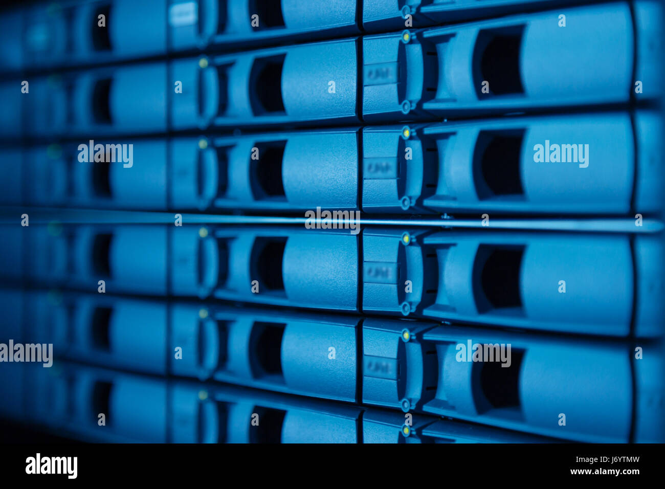 Server rack with hard drives - Stock Image