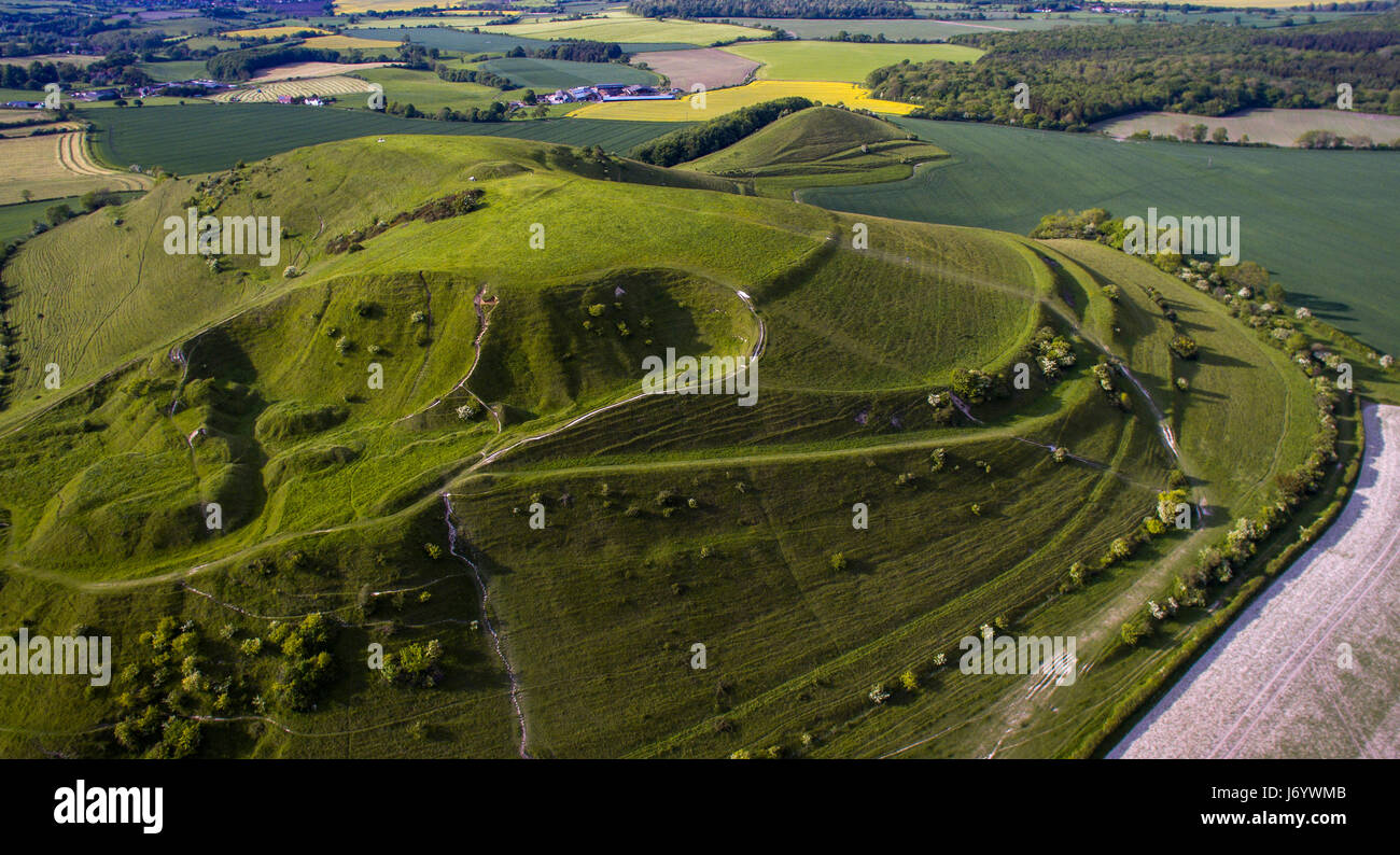Cley Hill Iron Age hill fort near Warminster, Wiltshire, UK Stock Photo