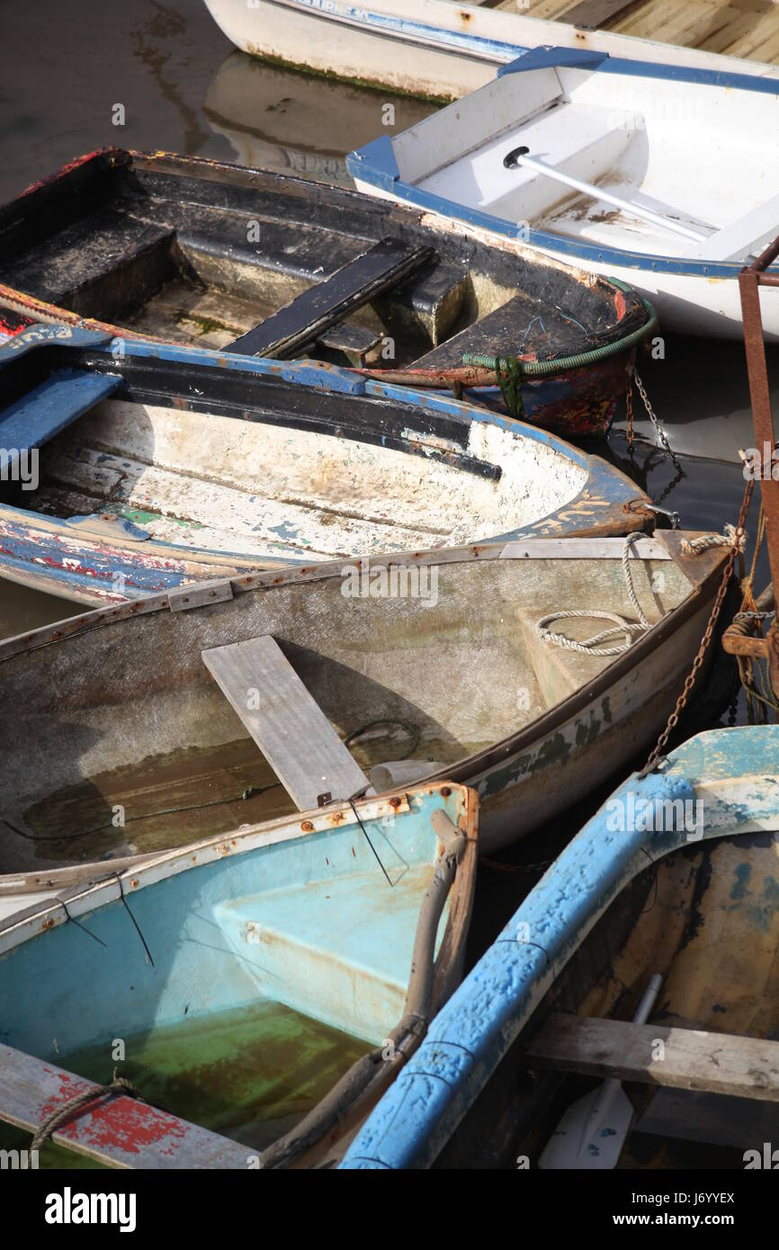 Moored boats - Stock Image