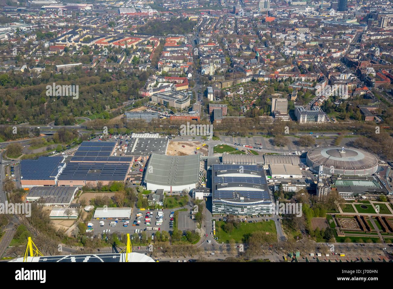 Exhibition, Exhibition Center, City Council of Dortmund, Westfalenhallen, Steigenberger Hotel near the SignalIdunaPark, - Stock Image