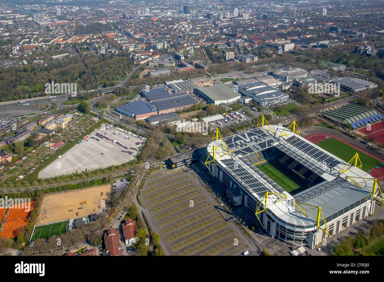 BVB Stadium, football stadium, soccer, Westfalenhallen, Dortmund fair, exhibition grounds, german premier league, - Stock Image