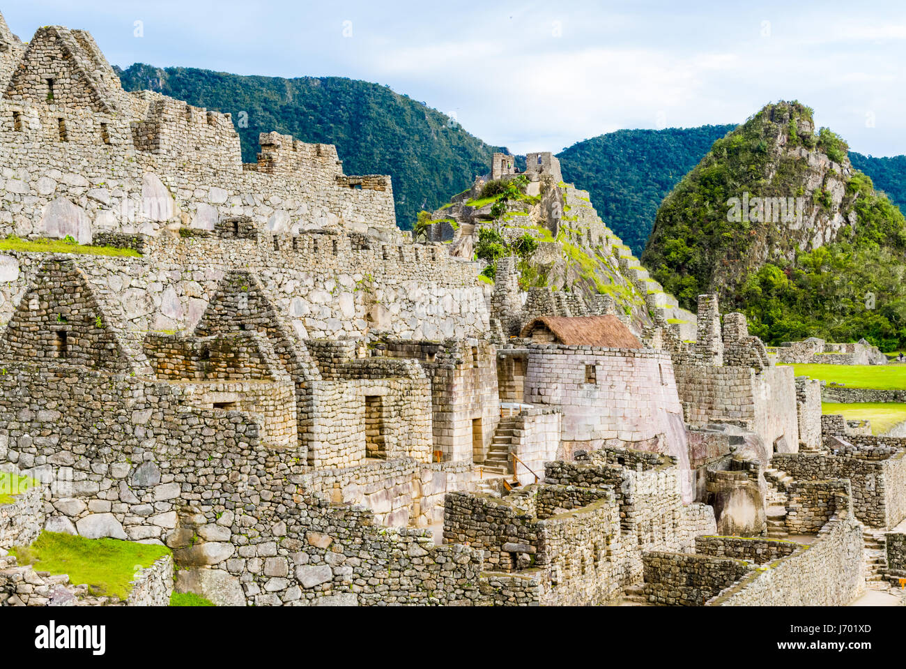 Machu Picchu, Incas ruins in the peruvian Andes at Cuzco Peru - Stock Image