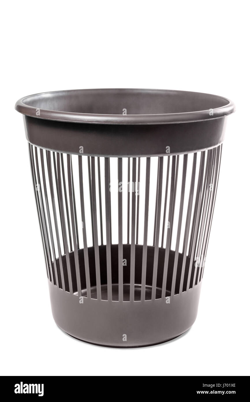 Empty basket for garbage - Stock Image
