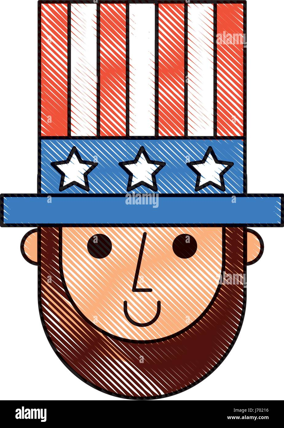 Abraham Lincoln With Hat Comic Character Stock Vector Art