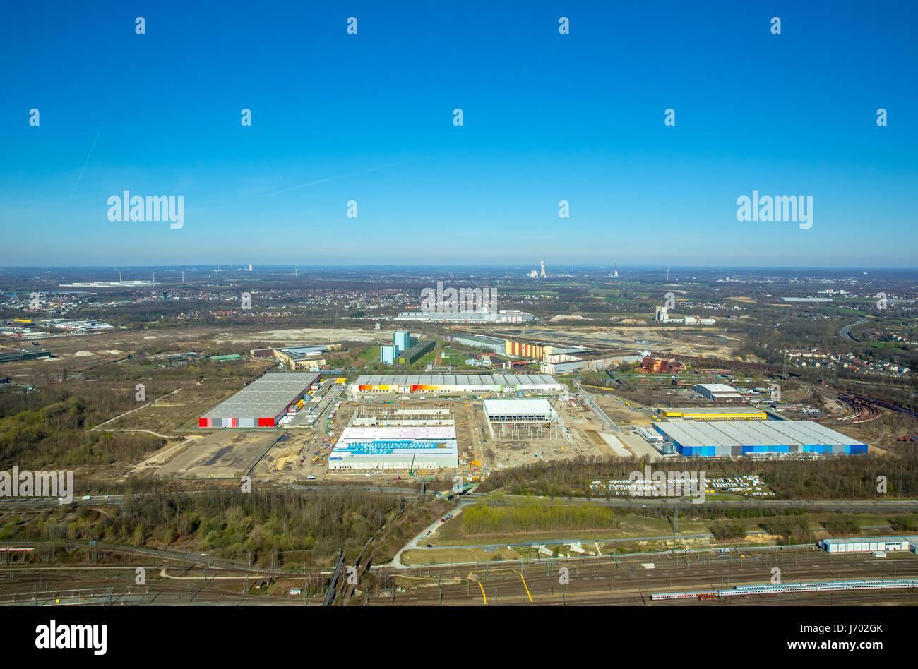 AMAZON Logistics Center Dortmund, next to Decathlon, Dortmund, Ruhr area, North Rhine-Westphalia, Germany,AMAZON - Stock Image