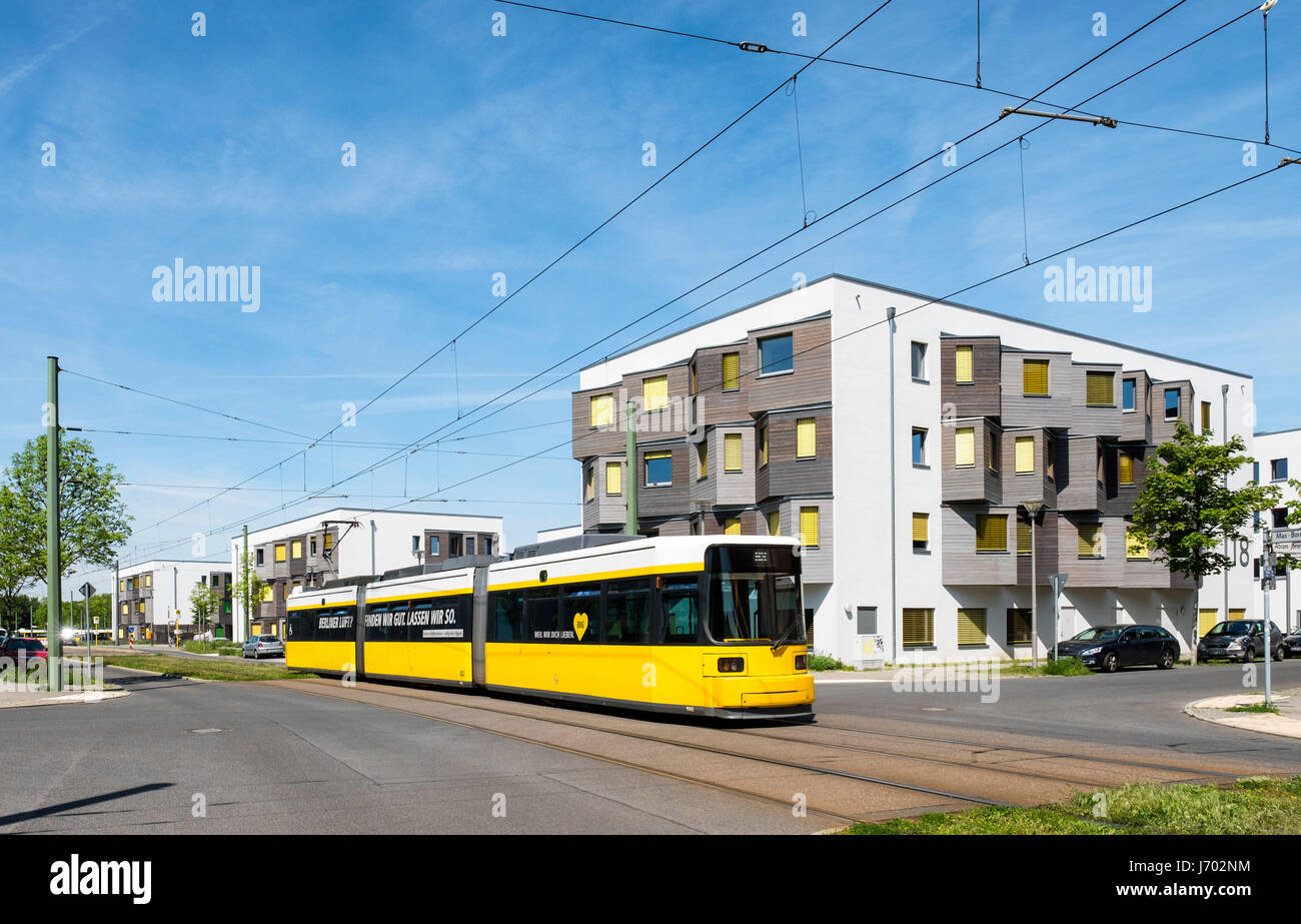 New modern student apartment accomodation blocks at the Science and Technology Park in Adlershof Berlin, Germany - Stock Image