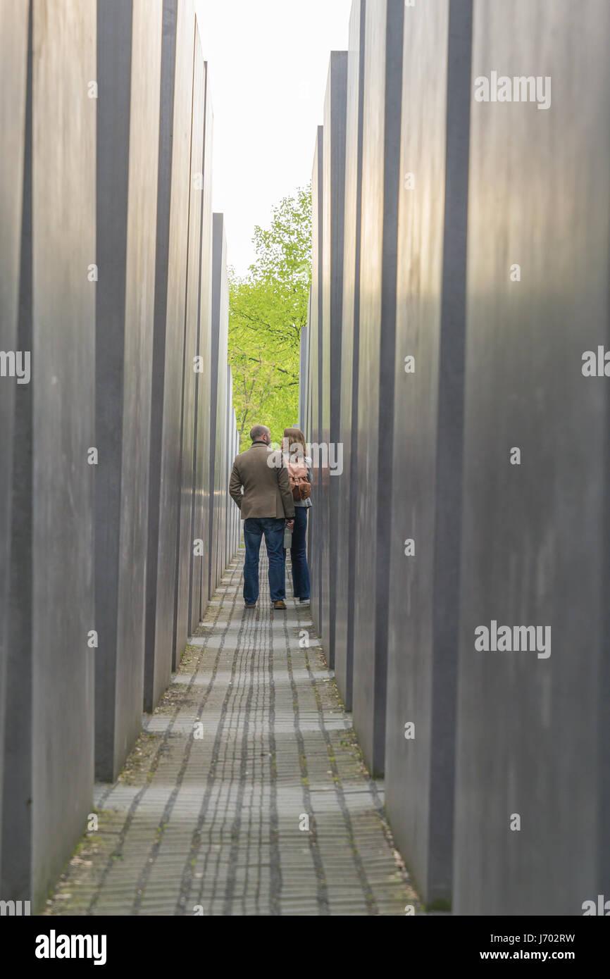 Murdered Jew memorial Berlin - Stock Image
