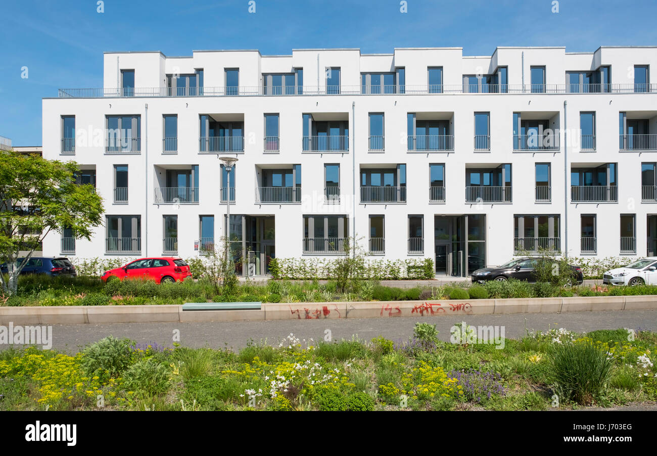 New apartment buildings at Adlershof Science and Technology Park in Berlin Germany Stock Photo