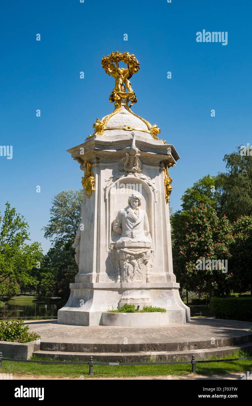 Beethoven-Haydn-Mozart Monument in Tiergarten park in Berlin, Germany - Stock Image