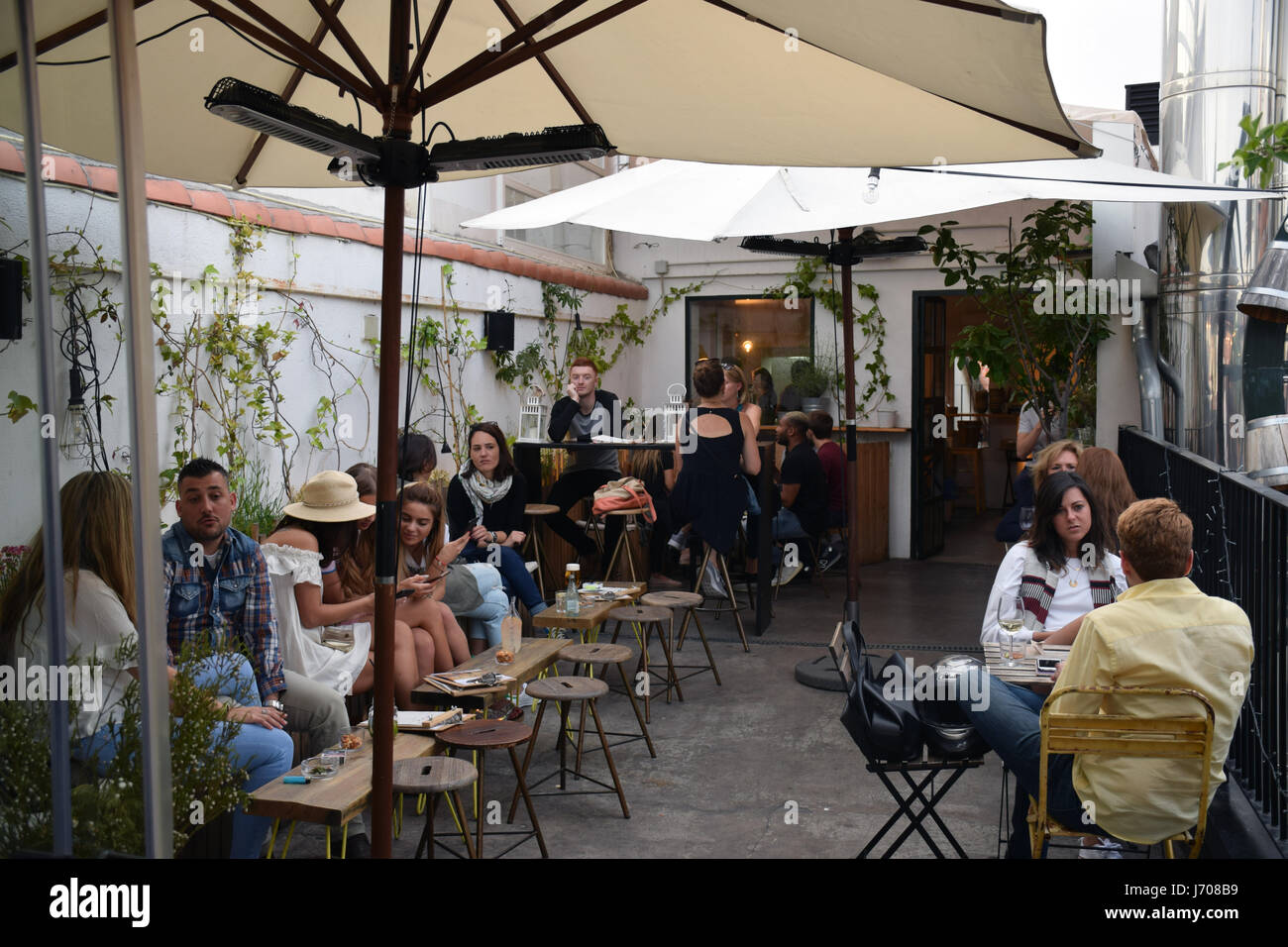 HAT rooftop bar, Madrid, Spain - Stock Image