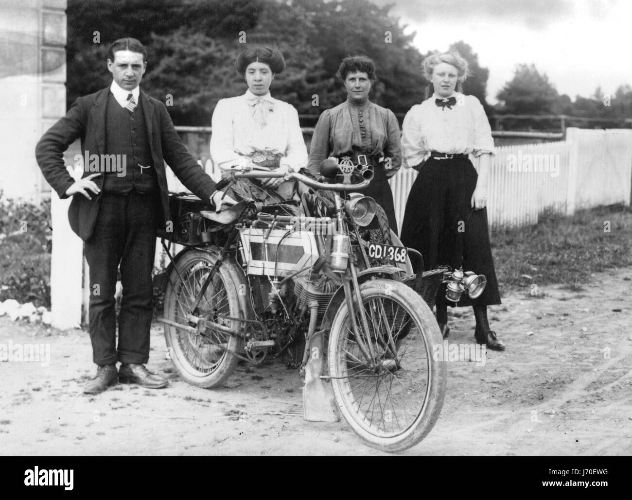1911 Minerva 3.5 hp motorcycle - Stock Image
