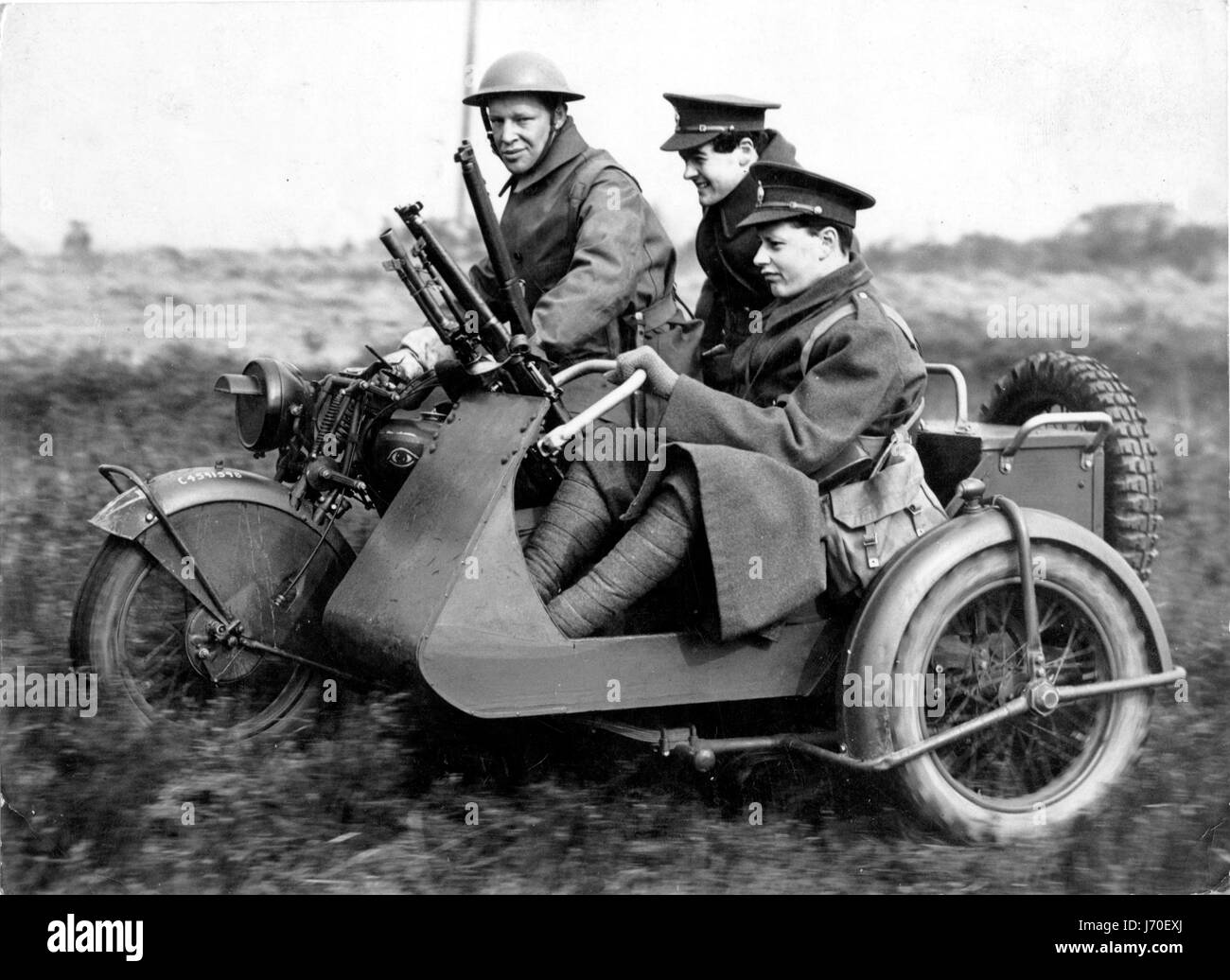 1940 Norton G33 Bren Gun sidecar military motorcycle - Stock Image