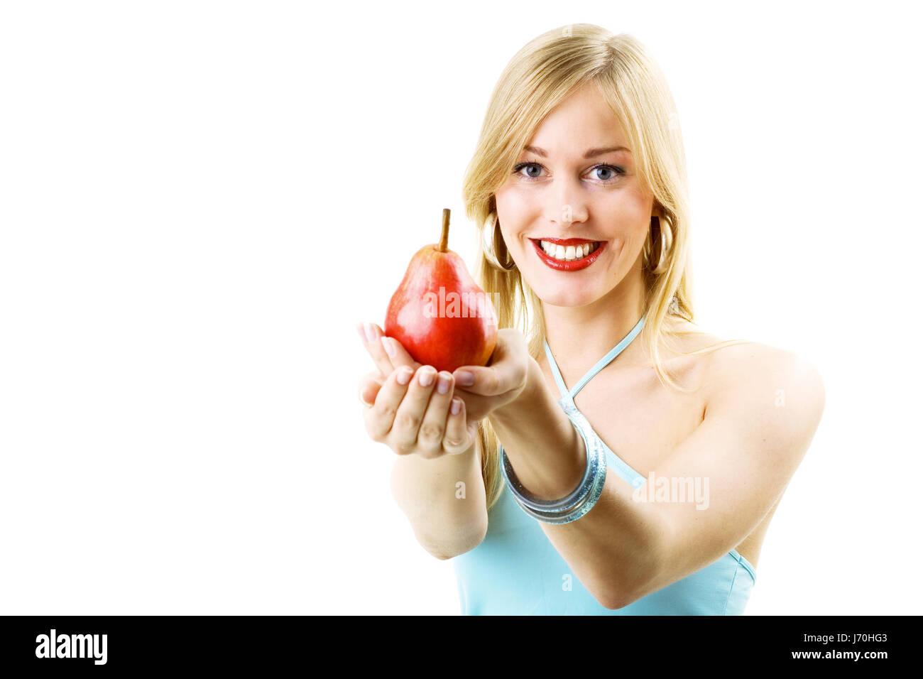 damn tasty pear - Stock Image