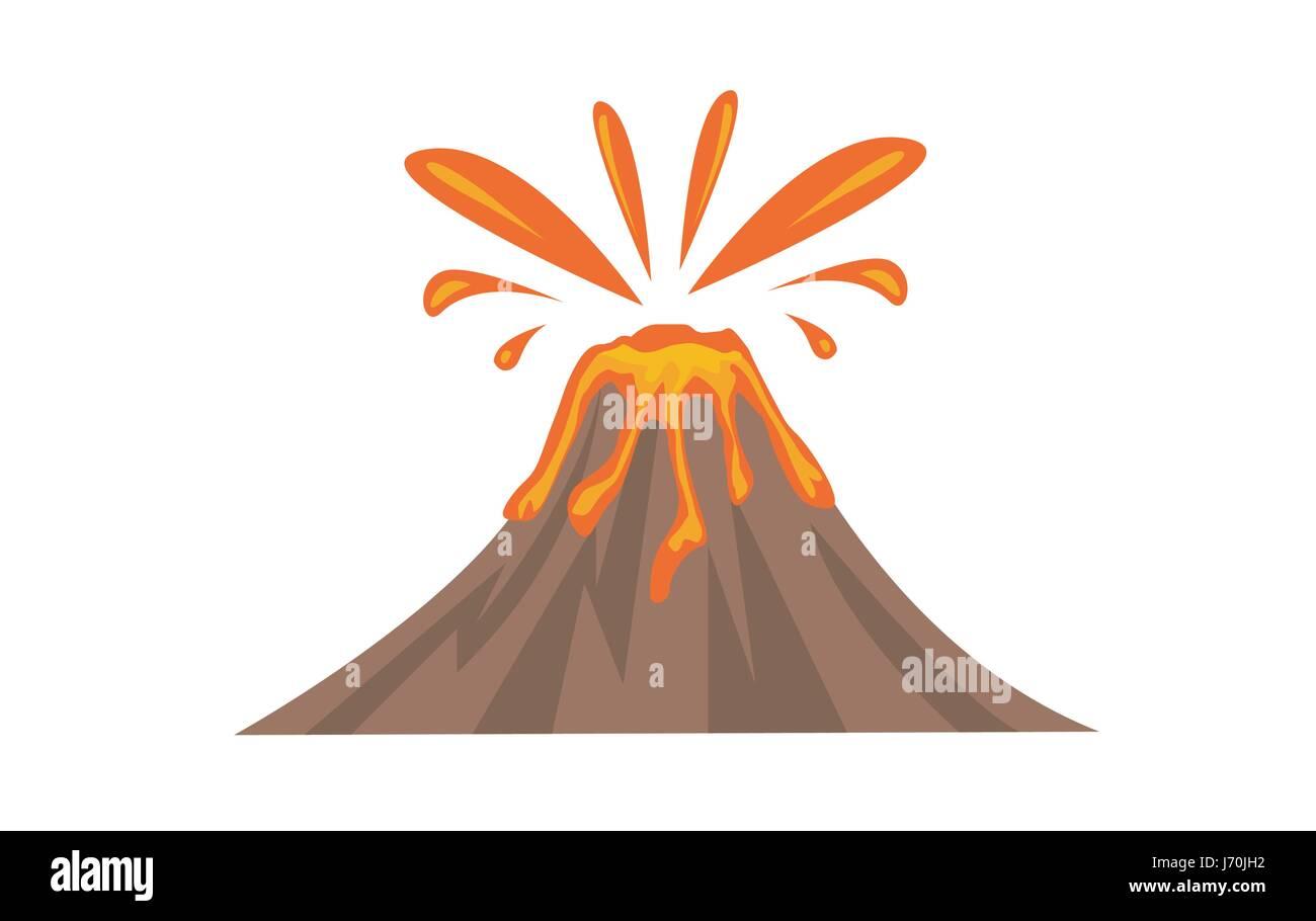 Volcano Icon vector illsutation - Stock Vector