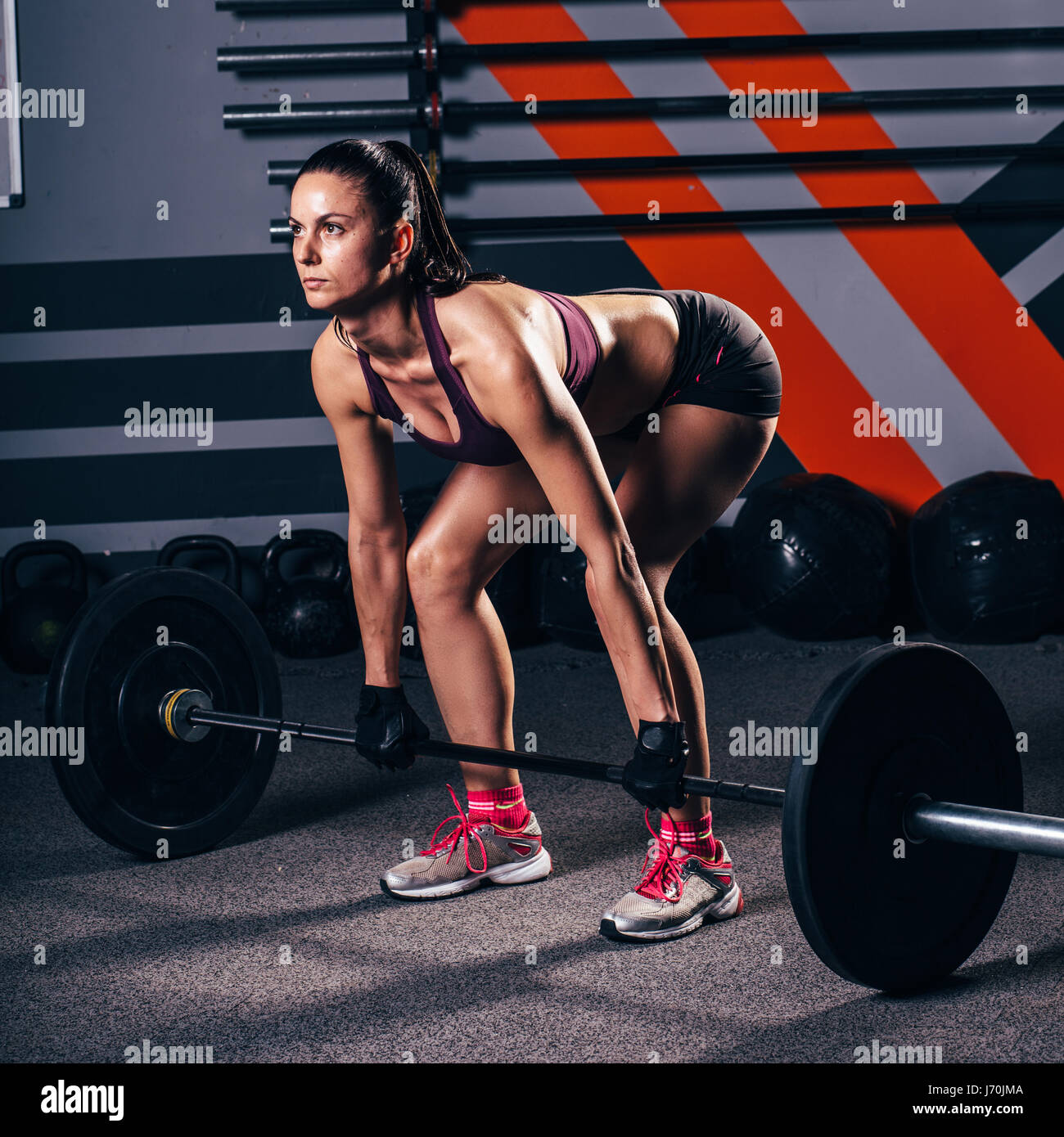 CrossFit workout - Stock Image