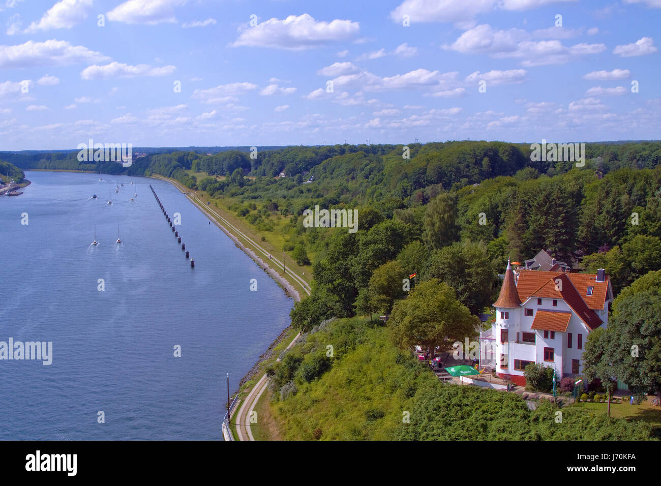 the kiel canal Stock Photo