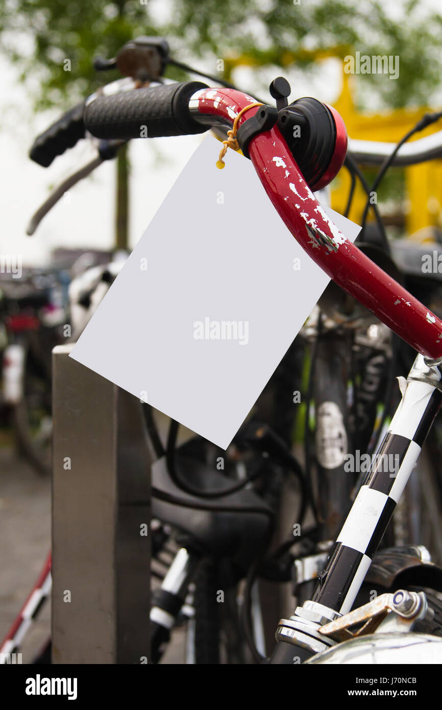 Bicycle public Advertising - Stock Image