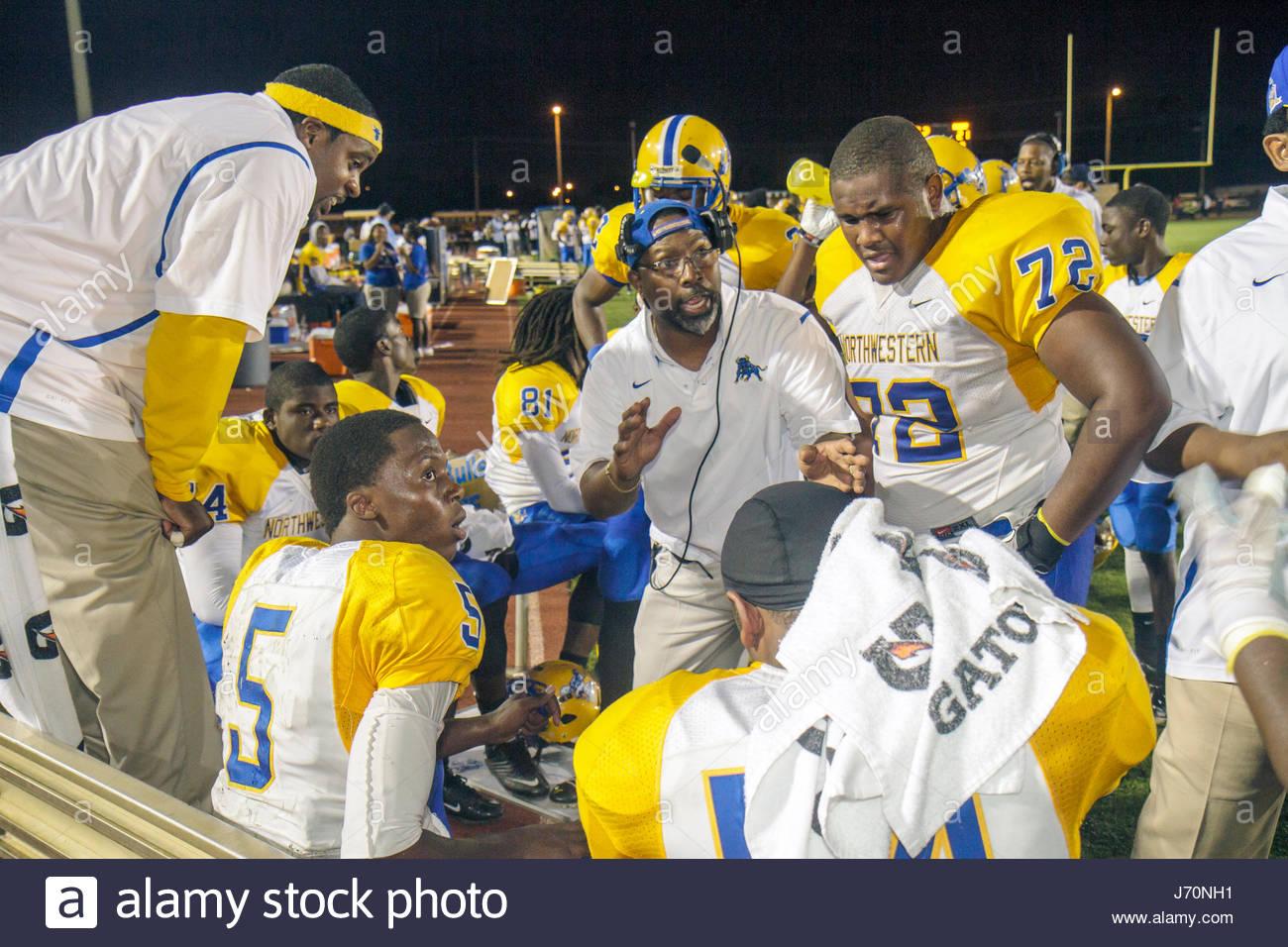 MiamiMiami Florida Dade College North Campus Traz Powell Stadium high school football playoff game Northwestern - Stock Image
