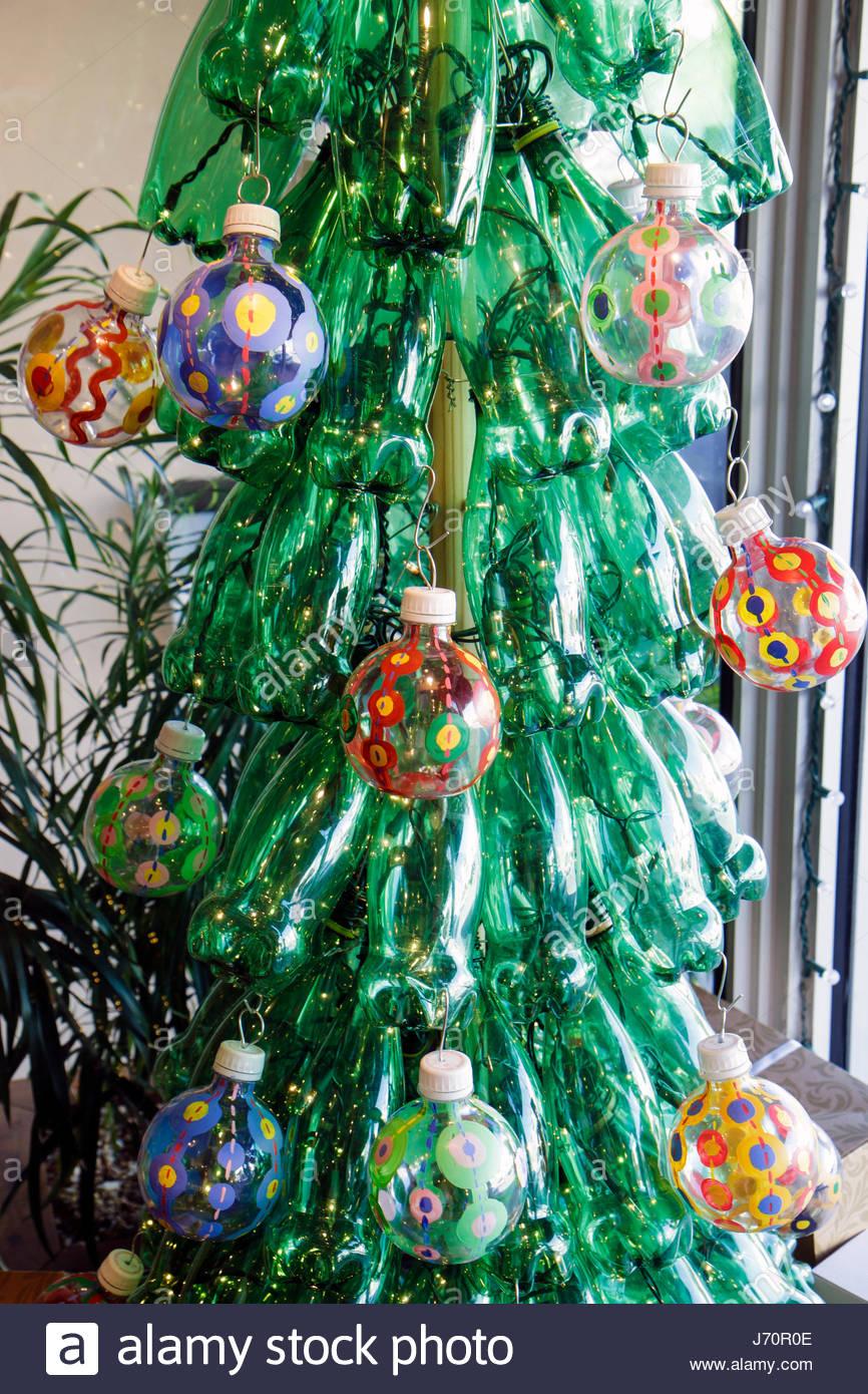 Miami Beach Florida Recycled Plastic Bottles Christmas Tree