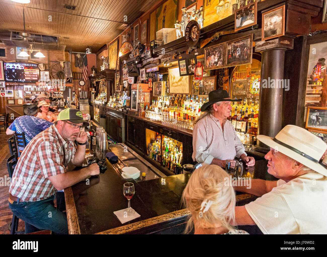 Big Nose Kate's Saloon with stained glass and lots of old west character in Tombstone, AZ. Tombstone is an historic - Stock Image