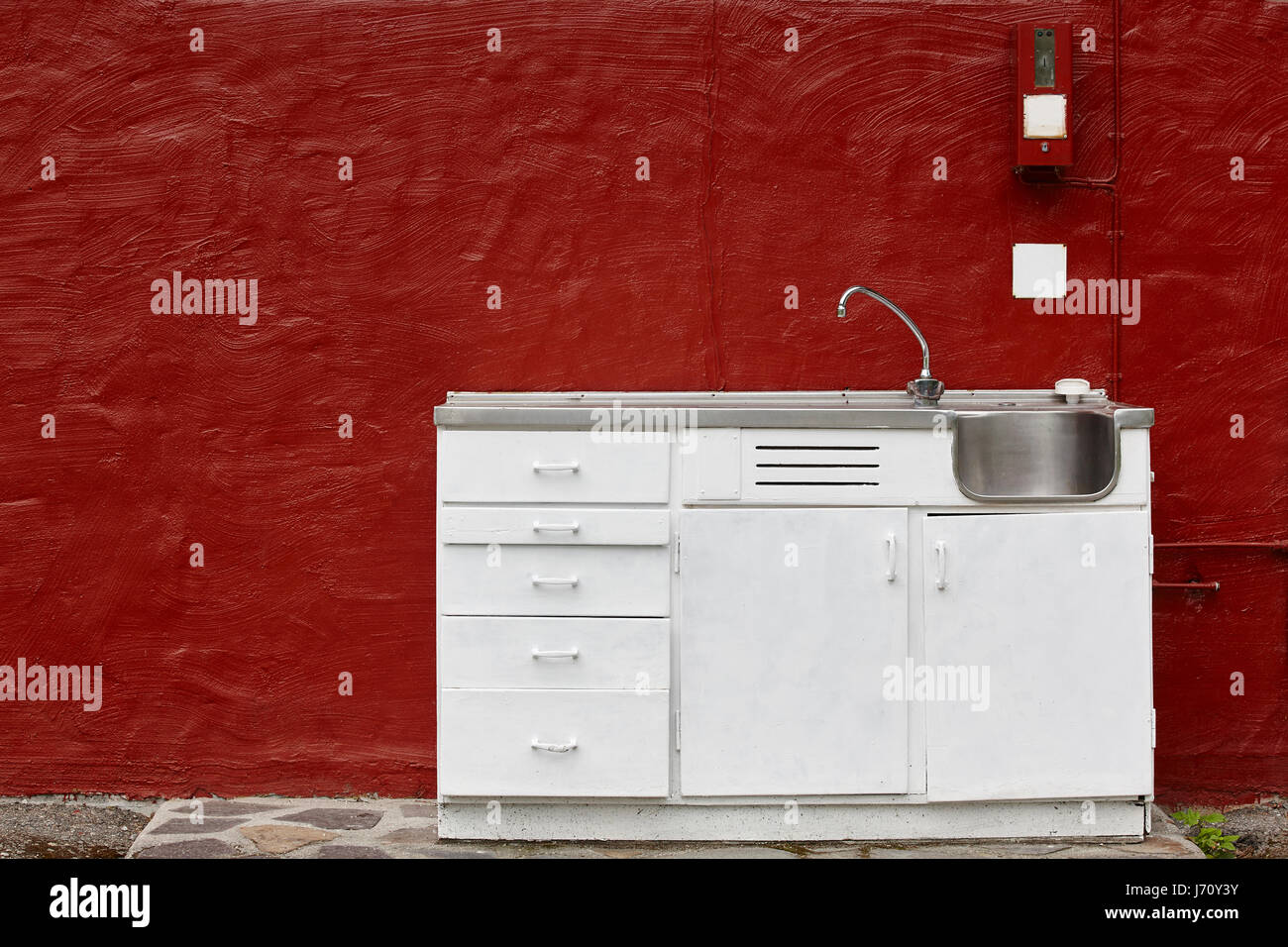 Pay per use outdoor camping kitchen cabinet sink and faucet ...