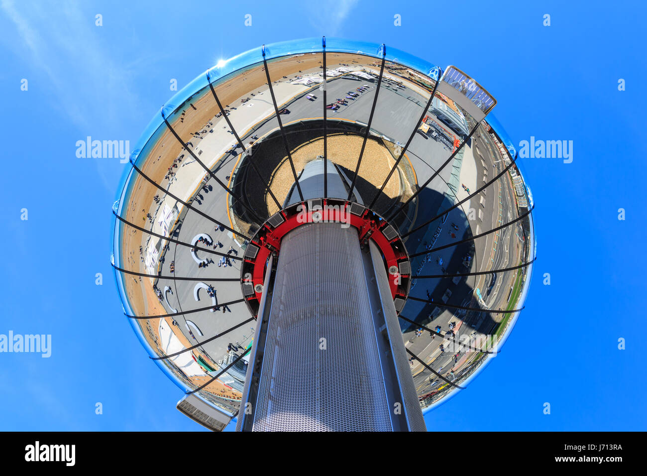 Brighton British Airways i360 observation tower on the seafront, Brighton, East Sussex, UK - Stock Image