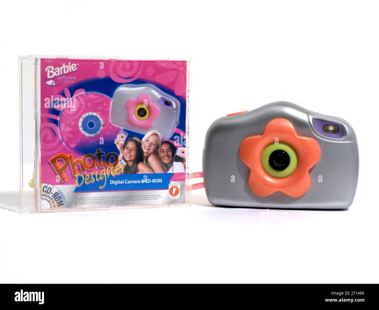 Barbie Digital Camera and CD-ROM - Stock Image