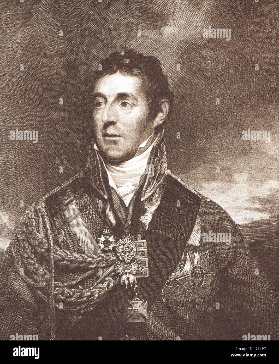 Arthur Wellesley, 1st Duke of Wellington The Iron Duke - Stock Image