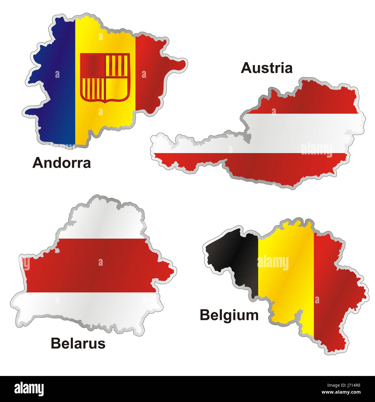 Austria Flag Belgium Andorra Map Atlas Map Of The World Belarus