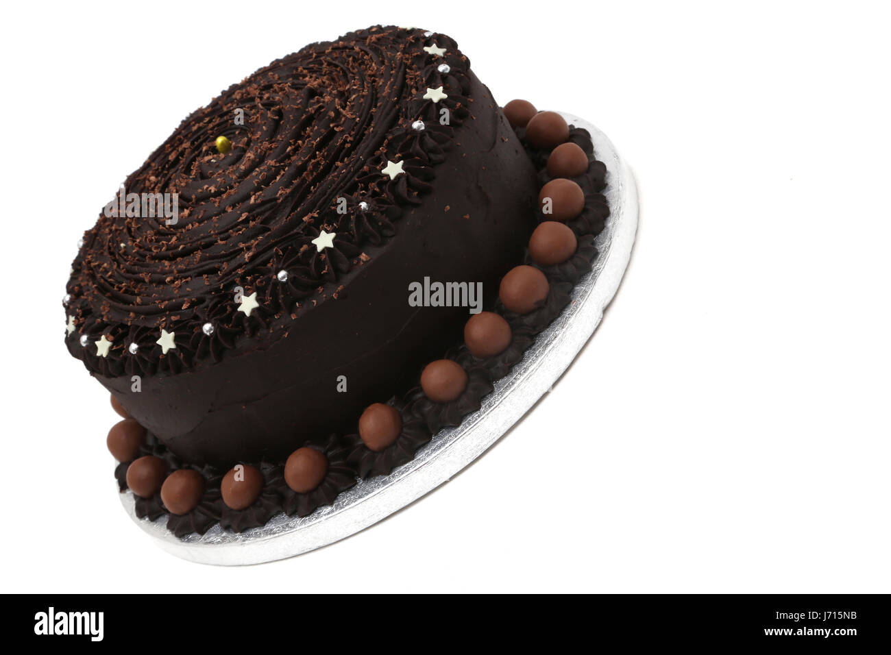 Home made Chocolate Cake with maltesers - Stock Image