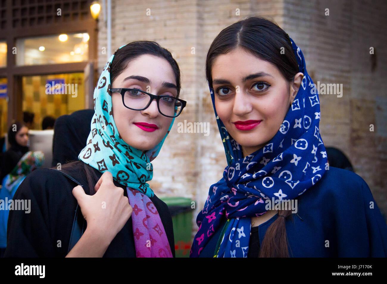 Friends Naghsh-i Jahan Square, Esfahan, Iran - Stock Image