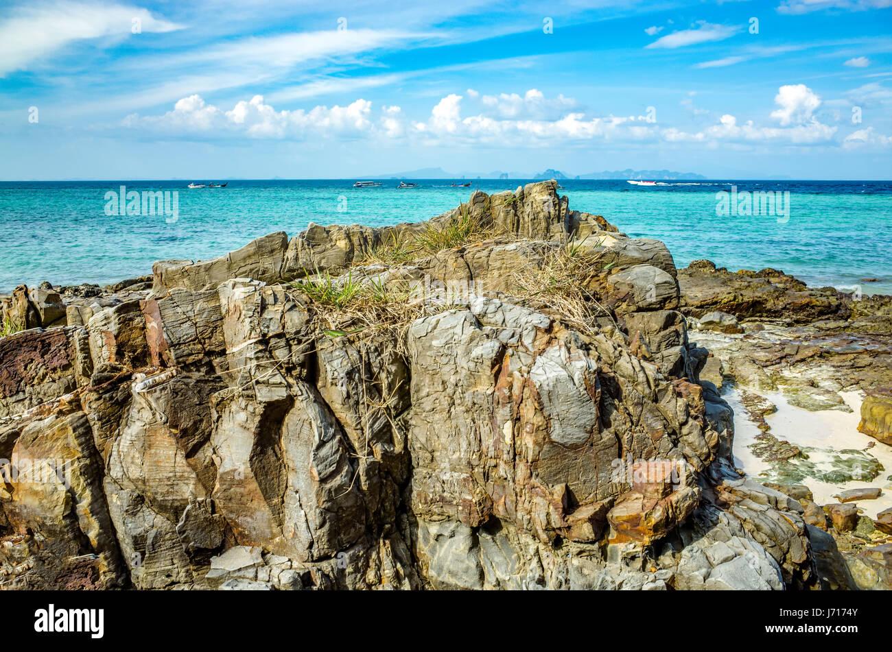 The Andaman sea of the Indian ocean, Phuket - Stock Image