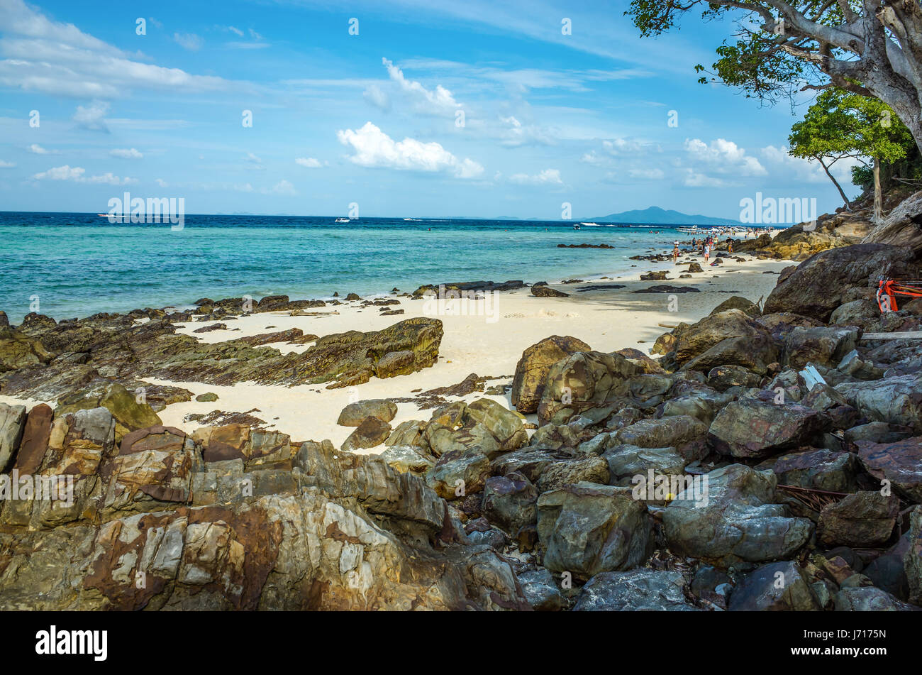 Beach of the Andaman sea in Phuket, Thailand - Stock Image