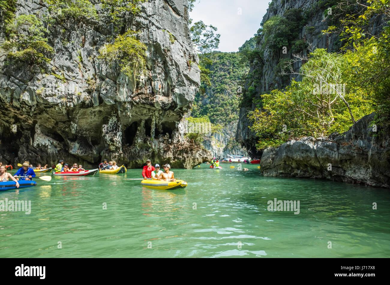 Kayaks on the Islands of Phuket, Thailand - Stock Image