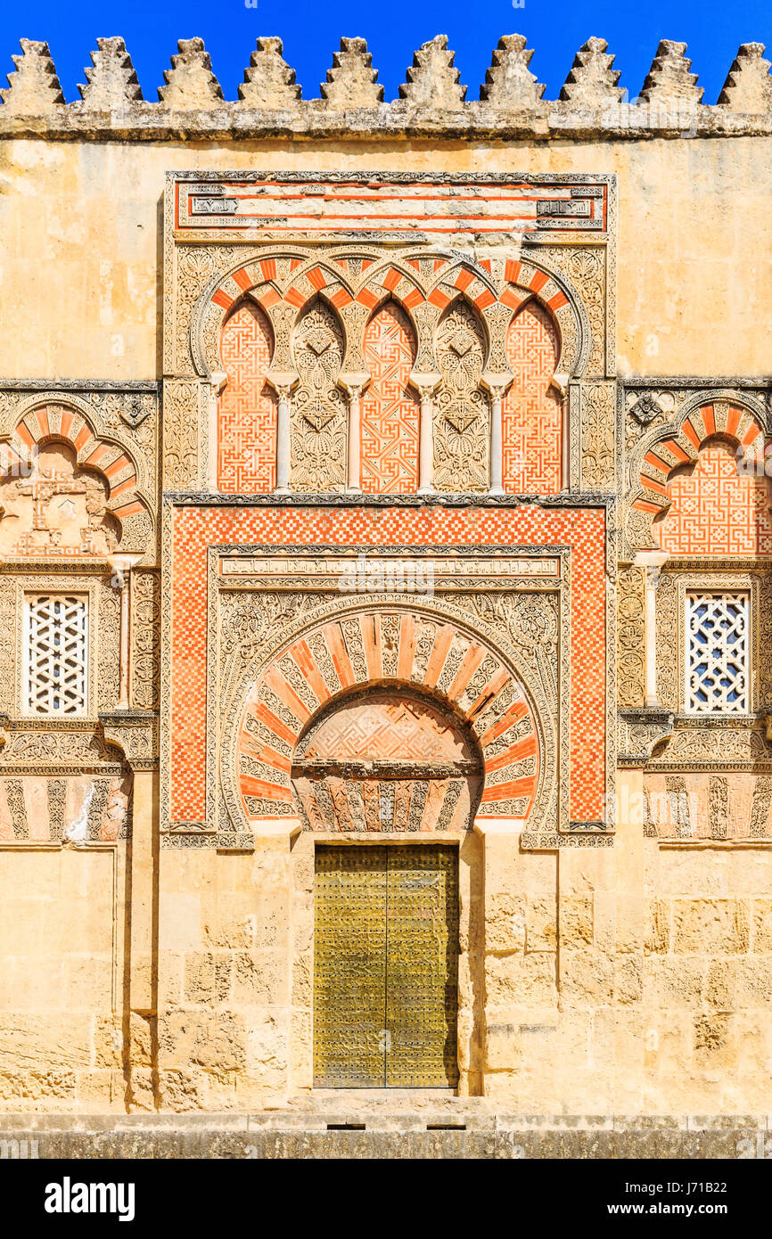 Cordoba, Spain. Puerta(Gate) de San Ildefonso at the Mezquita Mosque-Cathedral. - Stock Image