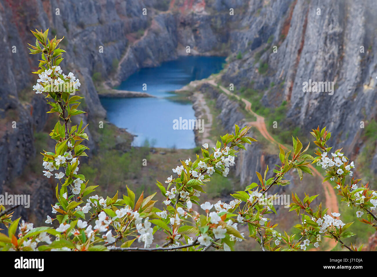 The Big America - Velka Amerika is dolomite quarry for cement production. Czech Republic, Europe. - Stock Image
