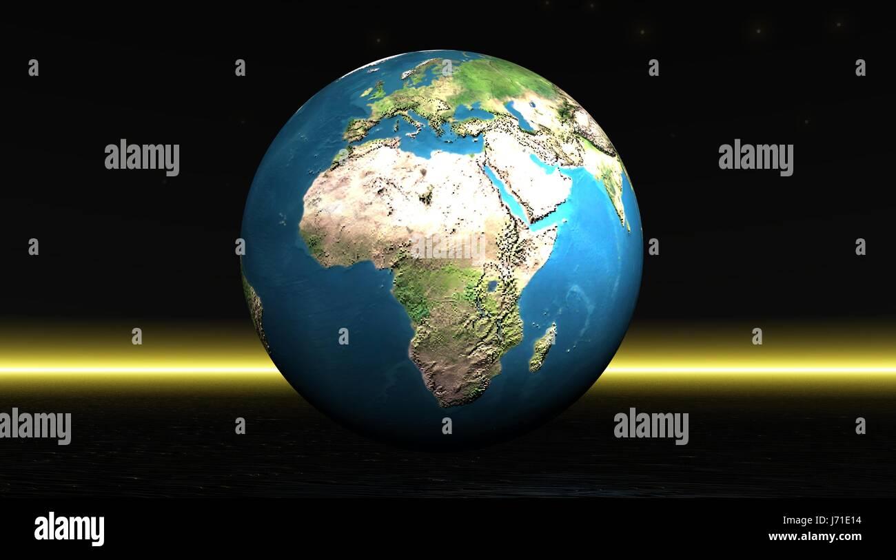 night nighttime ray globe planet earth world map atlas map of the world blue - Stock Image