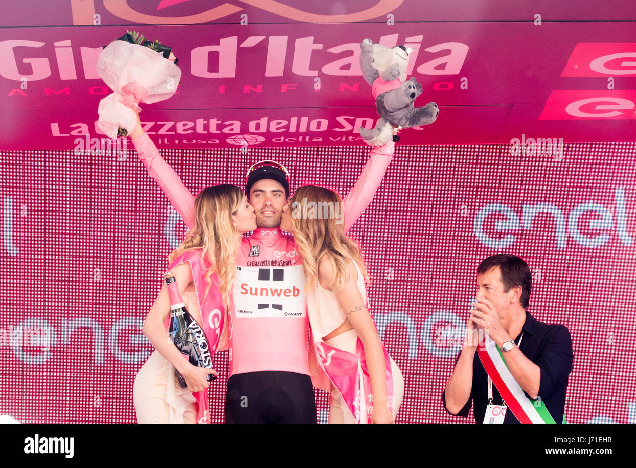 Bergamo, 21th may 2017, Italy Giro D'Italia stage 14 - Stock Image