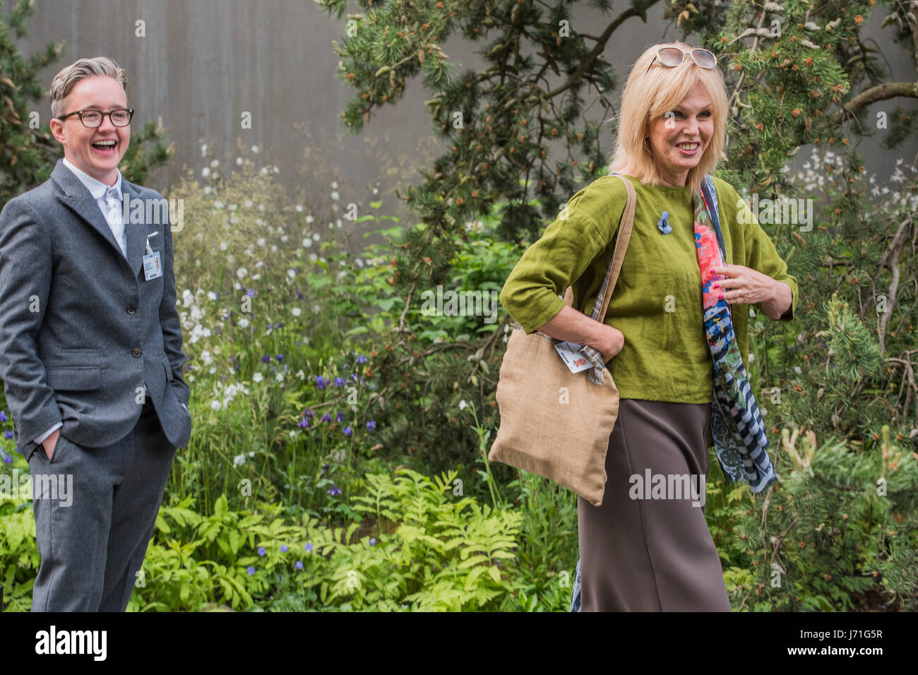 London, UK. 22nd May, 2017. Joanna Lumley - The Chelsea Flower Show organised by the Royal Horticultural Society - Stock Image