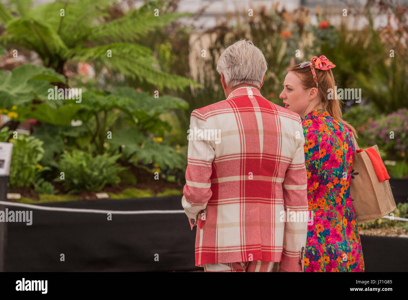 London, UK. 22nd May, 2017. The Chelsea Flower Show organised by the Royal Horticultural Society with M&G as - Stock Image