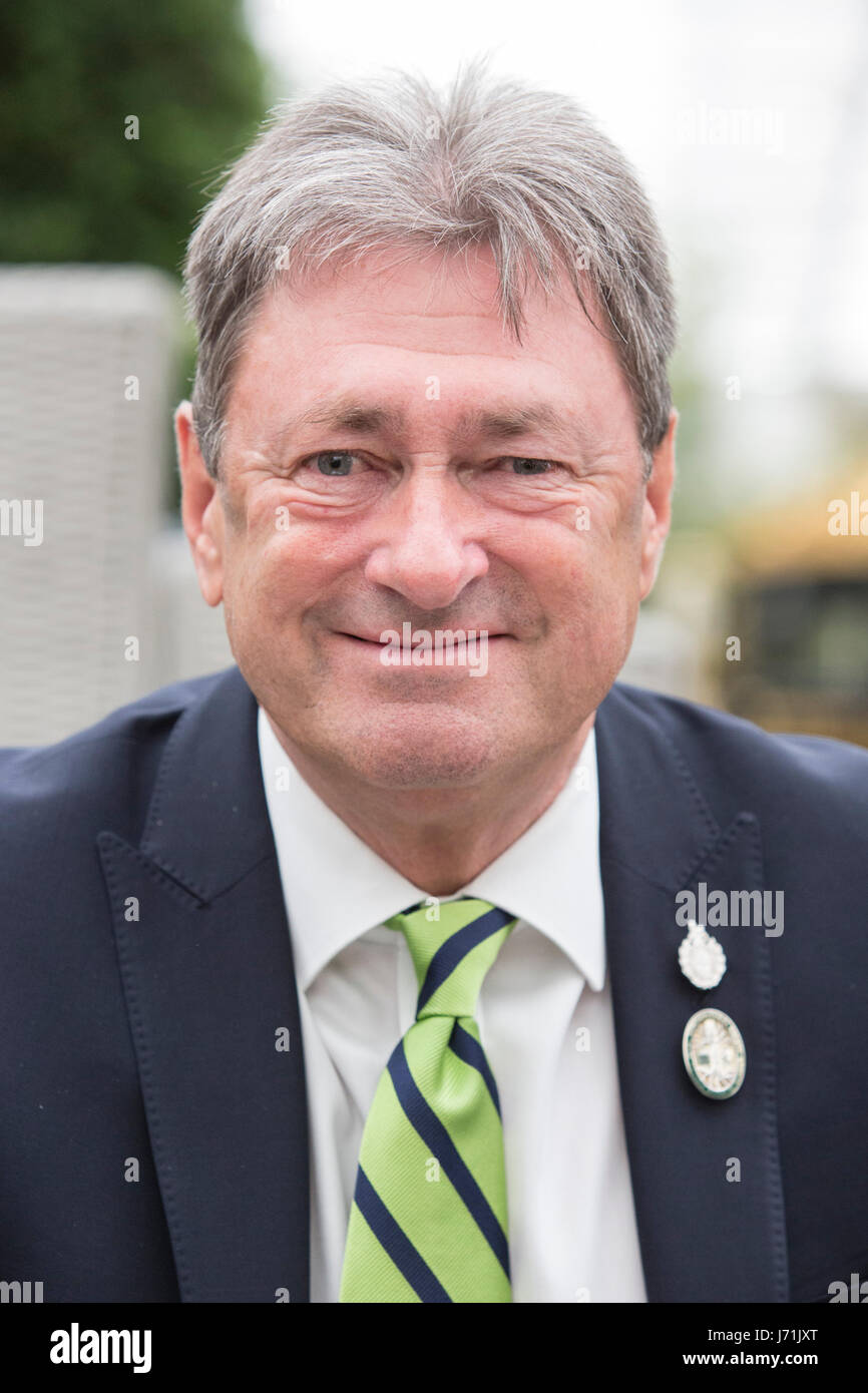 London, UK. 22nd May, 2017. Gardener Alan Titchmarsh visiting Hillier Nurseries. Press Day at the 2017 RHS Chelsea Stock Photo