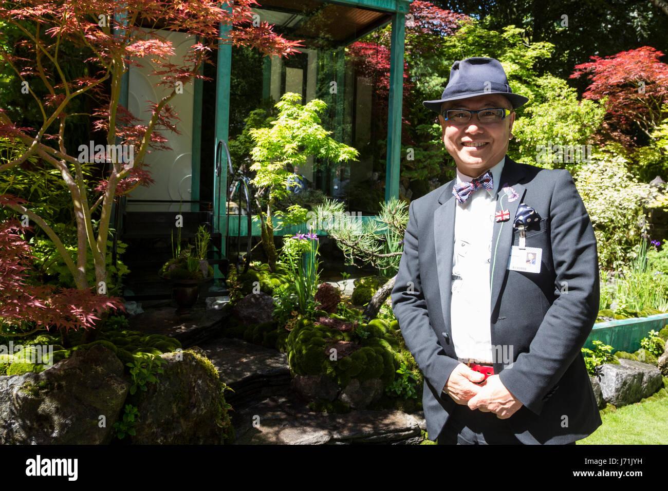 london, uk. 22nd may, 2017. garden designer ishihara kazuyuki. press
