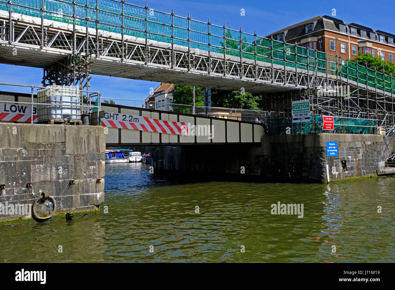 Bristol, UK. 22nd May, 2017. Prince Street Bridge reopens to pedestrians and cyclists after restoration work. The - Stock Image